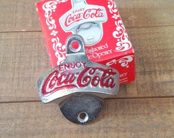 Coca Cola Bottle Opener, Old Fashioned Bottle Opener, Coke Paraphernalia, Coke Collector, Bottle Opener, Man Cave
