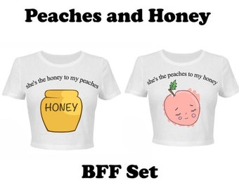 Peaches and Honey BFF Set-- Girl Meets World Inspired T-shirt