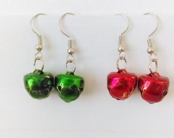 Christmas Earrings, Holiday Earrings, Jingle Bells, Christmas Gifts, Bell Earrings, Dangle Earrings, Bell Earrings, Sassy Earrings