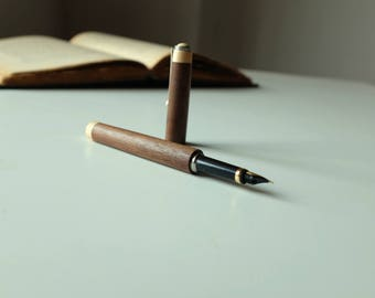 Wood Fountain Pen, Wood Pen, Wood Turned Fountain Pan, Handmade Pen, One of a Kind Pen, Gift for Him