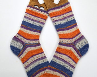 hand knitted socks, wool socks, handmade socks, women socks, warm winter socks, ladies socks, warm socks UK 6-7  US 7,5-8,5
