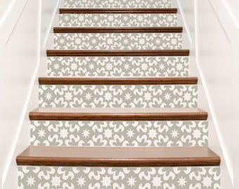 Awesome Vinyl Stair Riser Decals . U0027Carnivaleu0027 Style Staircase Stairwell Wall Decor  Adhesive Stickers .