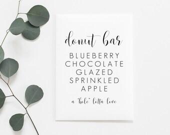 Donut Bar Printable. Donut Bar Sign. Wedding Donut Stand. Wedding Reception Printables. Wedding Reception Signs. Wedding Signs.
