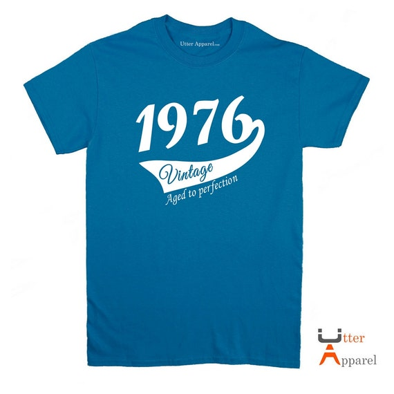 1977 41st Birthday gift for him or her,  41 years old Party Shirt for man or woman vintage 1978, aged to perfection, 41st birthday party tee
