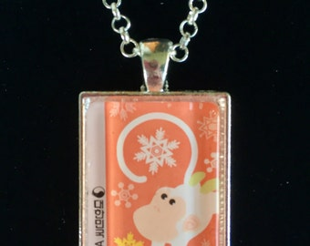 Year of the Monkey Postage Stamp Necklace