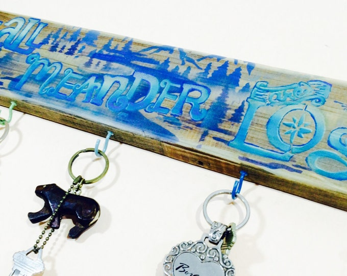 Wood signs /Custom name pallet wood sign/ wooden word art/ hanging personalized name decor 5 colorful hooks/ wall coat rack /key holder