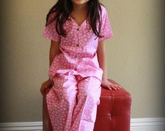 Daisy Girls Easter Pajama