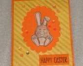 Easter Bunny Rabbit Spinner Interactive Card