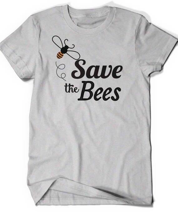 Save The Bees Tshirt T Shirt T Shirt Tees Mens Ladies Womens