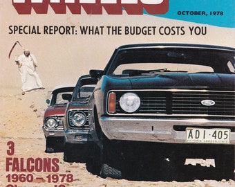 Fathers Day Gift Idea Wheels Magazine October 1978 Anniversary Gift for Him Husband Gift Idea Car Gifts 40th Birthday Idea Man Cave