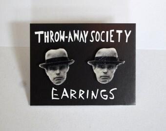 Joseph Beuys Stud Earrings Post Jewelry Accessoires Artist Face Earrings Head Earrings Photo Picture