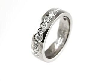 Unique Engagement Ring Wide Wedding Band Unique Wedding