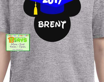 Disney Graduation shirts, Disney family shirts, Disney World shirts, Disneyland shirts, personalized shirts