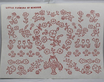 Vintage Iron-on Transfer - Little Flowers of Windsor