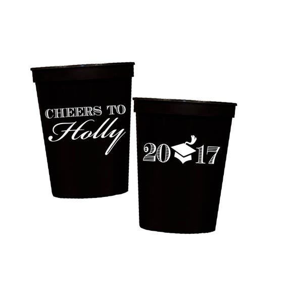 Graduation plastic cups, Class of 2017 cups, Personalized stadium cups, graduation party favors, Custom party cups, personalized tumblers