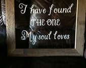Window panes - Song of Solomon - Bible Verse - Wedding sign - Window frame - Window picture frame - Wedding gifts