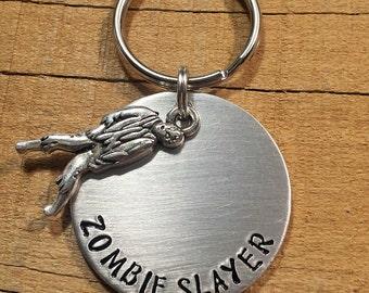 Zombie Gift - Zombie Keychain - Zombie Apocalypse - Undead Hunter - Living Dead - Zombie Hunter - Zombie Keychain - Zombie Keyring