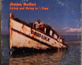 Jimmy Buffett – Living And Dying In 3/4 Time 1980 ( LP, Album, Vinyl Record ) Country Rock, Classic Rock, Rock, Parrot Head- Music