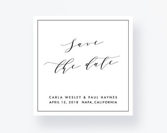 Save the Date Card, Personalized Wedding Printable, Save our Date, Wedding Pdf Suite, Elegant Save the Date, Calligraphy Wedding Cards
