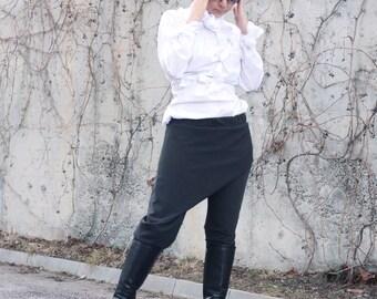 Women's Pants, Pants/Skirt, Drop Crotch Pants, Harem Pants, Fashion pants, Extravagant Pants, Casual Pants, Wrap Pants by CARAMELfs P14417