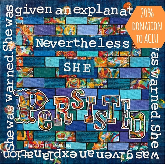 Items Similar To She Persisted Quote About Elizabeth