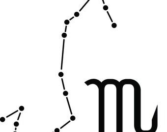 Scorpio Constellation Vinyl Decal