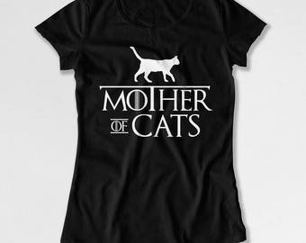 Funny Cat T Shirt Cat Mom Gifts For Cat Lovers TShirt Kitty Clothing Mothers Day Gift Kitten Clothes Mother Of Cats Ladies Tee DN-704