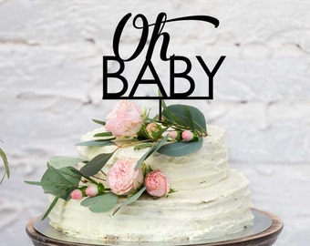 Baby Shower Acrylic Cake Topper - Oh Baby (ARC16102) MADE IN Australia