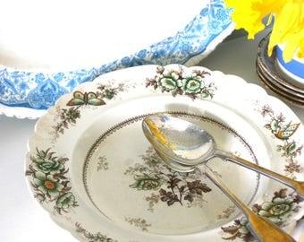 """Antique vintage floral soup / pasta bowl """"Flora"""""""