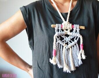 Contemporany Macrame necklace by Ranran Design