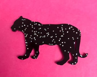 Glitter Panther Brooch