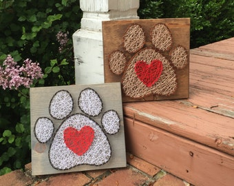 MADE TO ORDER String Art Paw Print Sign