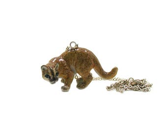 Cougar Necklace, Puma Necklace, Charm Jewelry, Cougar Jewelry, Cougar Charm, Jewelry Gift, Mountain Lion Necklace, Wildlife Necklace