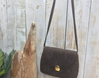 Cole Haan Handbags, Brown Suede Handbag, Top Gifts for Her, clutch Suede Handbag, Brown Leather Suede Bag, Christmas Gifts Her, City Bag
