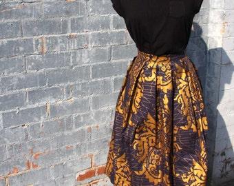 The Midi Skirt - Damascus