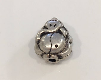 Ganesh Bead - Sterlig Silver Bead - Elephant Bead - beads fr necklaces and bracelets