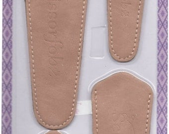 Scissors sheaths -VALUE PACK-4 sizes/pk- Designer Covers w/ScissorGripper Sewing Quilting Embroidery. Light tan color. S-34. Free Shipping.