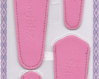 Scissors sheaths -VALUE PACK-4 sizes/pk-Designer Covers w/ScissorGripper Sewing Quilting Embroidery. Beautiful Pink. S-67. Free Shipping.