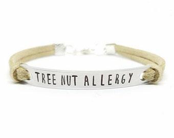 Allergy Bracelet | Medical Alert Bracelet | Personalized Medical Bracelet | Peanut Allergy | Tree Nut Allergy | Shellfish Allergy