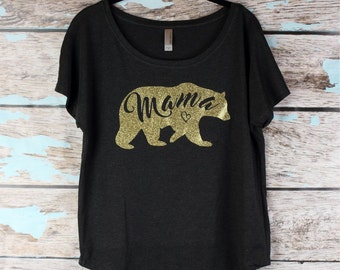 Mama Bear, Momma bear tee shirt Mama bear T-shirt, mothers day gift shirt, womens off shoulder ,mommy shirt, baby shower gift, new mom gift,
