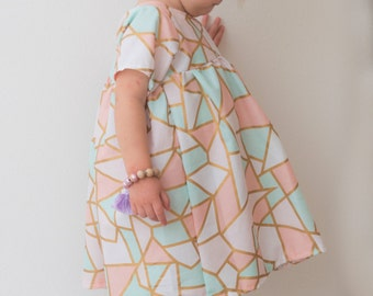 girls dresses, baby dress, dresses, fall outfit, pastel dress, toddler dress, tribal print, fall fashion, family pictures, baby girl dress