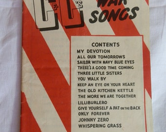 1940's Campbell & Connelly's GREAT WAR SONGS Sheet Music Book
