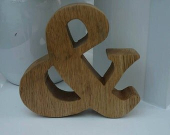 Wooden Carved, Scrolled Letters and Numbers