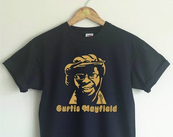 Curtis Mayfield T-shirt - 70s, Soul, Superfly, Various Sizes/Colours