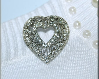 Heart Brooch Pin