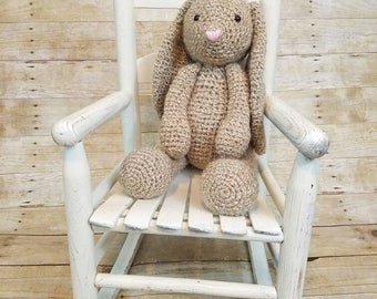 Classic Bunny Plush, Large bunny, Crochet bunny, Amigurumi Bunny