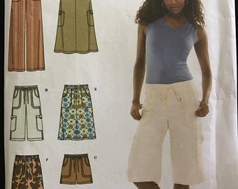 Simplicity 3796 - Easy Drawstring Waist Pants, Shorts, and Skirts - Size 8 10 12 14 16
