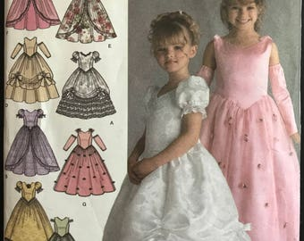 Simplicity 4764 - Little Girl's Special Occasion Princess Style Party Dress - Size 3 4 5 6 OR 5 6 7 8