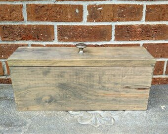 Drop In Lid Storage Box, Rustic Gift Box, Weathered Grey Box, Wooden Memory Box, Wood Pet Urn, Memento Box, Keepsake Box, Wine Gift Box