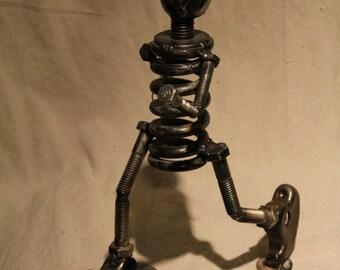 Running Man - Repurposed Scrap Metal Sculpture